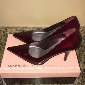 Bandolino Pearly Berry Patent Pump Heels - Pointed